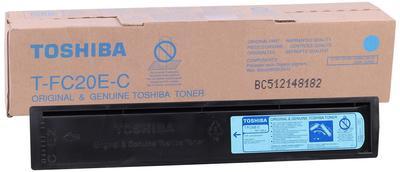 TOSHIBA - Toshiba T-FC20E-C Mavi Orjinal Toner e-Studio 2020C 16,800 Sayfa