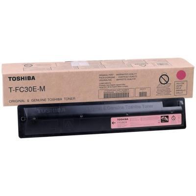 TOSHIBA - Toshiba T-FC30E-M Kırmızı Orjinal Toner E-Studio 2050C, 2051C, 2550C, 2551C