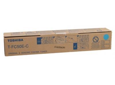 TOSHIBA - Toshiba T-FC50E-C Mavi Orjinal Fotokopi Toneri E-Studio 2555c, 3055c, 3555c, 5055c