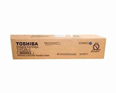 TOSHIBA - TOSHIBA T-FC55D-C MAVİ ORJİNAL TONER e-STUDIO 5520C, e-STUDIO 6520C, e-STUDIO 6530C