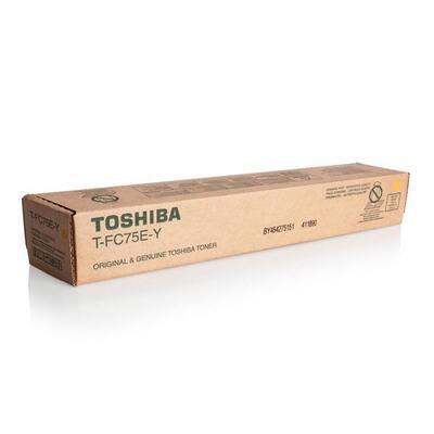 TOSHIBA - Toshiba T-FC75E-Y Sarı Orjinal Toner - e-Studio 5560C-6560C