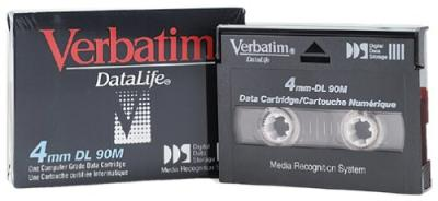 - Verbatim DATALIFE 4mm DL 90m Digital Data Kartuşu 2 GB / 4 GB