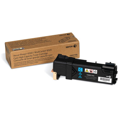 XEROX - Xerox 106R01594 6500 / 6505 Mavi Orjinal Toner Yüksek Kapasite