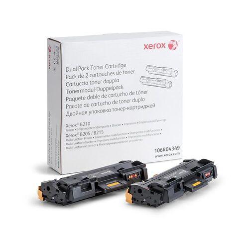 XEROX 106R04349 2'li Paket Siyah Orjinal Toner - B205 / B210 / B215