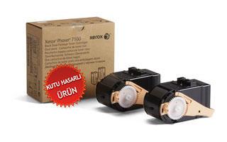 XEROX - XEROX 7100 106R02623 SİYAH ORJİNAL TONER 2li Paket Yüksek Kapasite